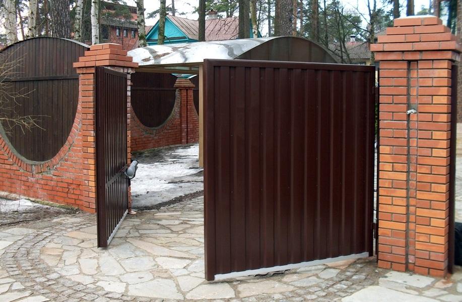автоматические заборные ворота своими руками видео
